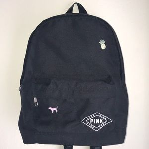 VS Pink Small Black Backpack
